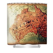 Vintage Australia Shower Curtain