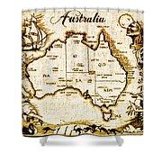 Vintage Australia Map Shower Curtain