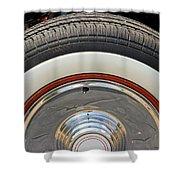 Vintage Automobile Tire Shower Curtain