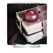 Vintage Back To School Shower Curtain by Edward Fielding
