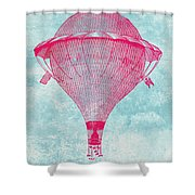 Vintage Balloon Shower Curtain