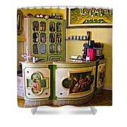 Vintage Bar - Hotel Subasio - Assisi Italy Shower Curtain