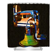 Vintage Barber Chair - 20130119 - V1 Shower Curtain