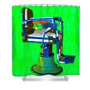 Vintage Barber Chair - 20130119 - V2 Shower Curtain