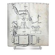 Vintage Barber Chair Patent Shower Curtain