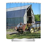 Vintage Barn And Equipment Shower Curtain