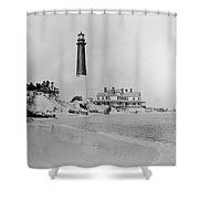 Vintage Barnegat Lighthouse  Shower Curtain