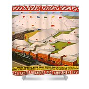 Vintage Barnum And Bailey Poster Shower Curtain