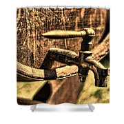 Vintage Barrel Tap Shower Curtain by Paul Ward