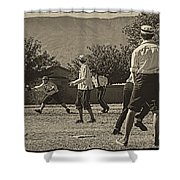 Vintage Baseball Shower Curtain