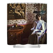 Vintage Beautification Shower Curtain