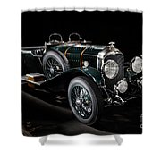 Vintage Bentley 4.5 Liter Le Mans Shower Curtain