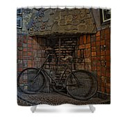 Vintage Bicycle Shower Curtain by Susan Candelario