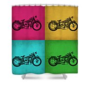 Vintage Bike Pop Art 1 Shower Curtain