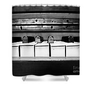 Vintage Black Tunes Shower Curtain