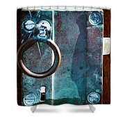 Vintage Boat Door Knob Shower Curtain