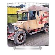 Vintage Brewery Van Shower Curtain