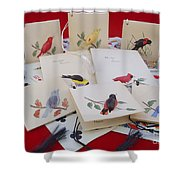 Vintage Bridge Accessories Shower Curtain