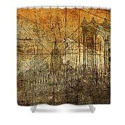Vintage Brooklyn Bridge  Shower Curtain