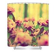 Vintage Bumblebee's Bush Shower Curtain