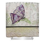 Vintage Butterfly-jp2568 Shower Curtain