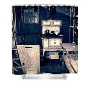 Vintage Cabin Interior Shower Curtain