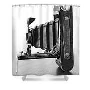 Vintage Camera - Black And White Shower Curtain