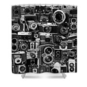 Vintage Camera Montage Shower Curtain