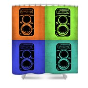 Vintage Camera Pop Art 1 Shower Curtain