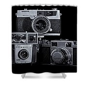 Vintage Camera Trio Shower Curtain