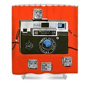 Vintage Camera With Flash Cube Shower Curtain