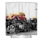 Vintage Car Carrier Shower Curtain