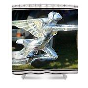 Goddess Of Speed Packard Hood Ornament  Shower Curtain