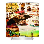 Vintage Cars Collage Shower Curtain