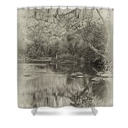 Vintage Cathedral Rock Sedona Shower Curtain