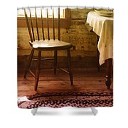 Vintage Chair And Table Shower Curtain