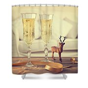 Vintage Champagne Shower Curtain