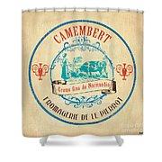 Vintage Cheese Label 3 Shower Curtain by Debbie DeWitt