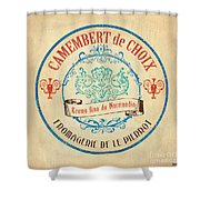 Vintage Cheese Label 4 Shower Curtain