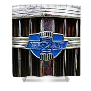 Vintage Chevrolet Grille Emblem Shower Curtain