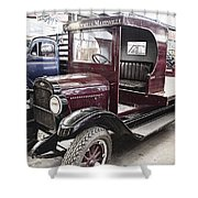 Vintage Chevrolet Pickup Truck Shower Curtain by Douglas Barnard