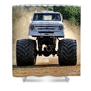 Vintage Chevy Monster  Shower Curtain