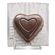 Vintage Chocolate Heart Shower Curtain