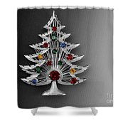 Vintage Christmas Tree Shower Curtain