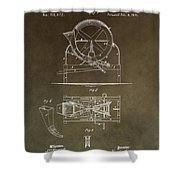 Vintage Cider Mill Patent Shower Curtain