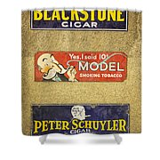Vintage Cigar And Tobacco Signs Dsc07152 Shower Curtain