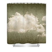 Vintage Clouds Background Shower Curtain