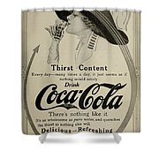 Vintage Coca Cola Ad 1911 Shower Curtain