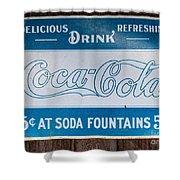 Vintage Coca Cola Ad Shower Curtain