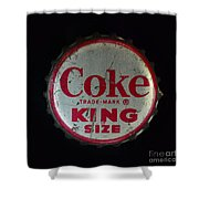 Vintage Coca Cola Bottle Cap Shower Curtain